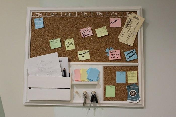 Доска для стикеров поможет всегда помнить о самом главном. / Фото: walls4home.ru