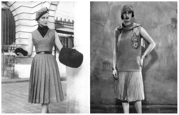 Так выглядела плиссированная юбка в прошлом столетии
