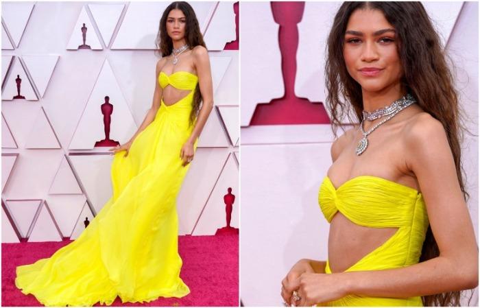 Зендея в желтом платье от Valentino