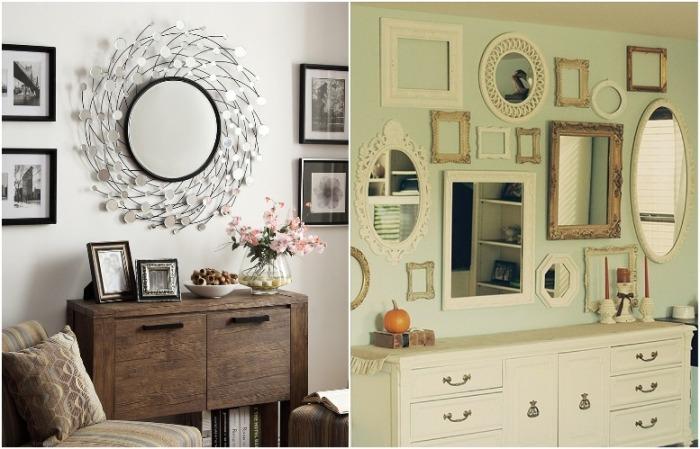 Выберите одно красивое зеркало или создайте целую композицию