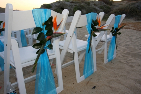 Тропический декор стульев