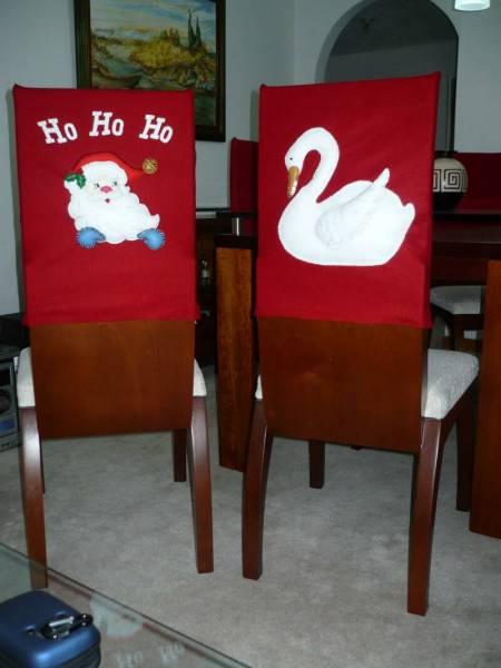 Новогодний декор стульев с применением аппликации