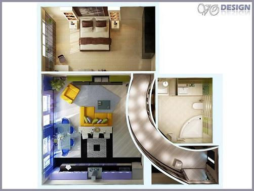Проект дизайн квартира студия
