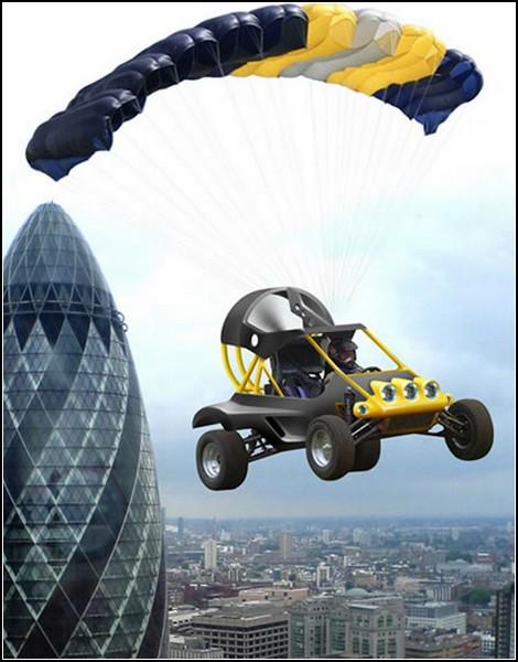 Летающий автомобиль Parajet SkyCar: полет