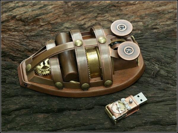 Компьютерная мышь в стиле стимпанк
