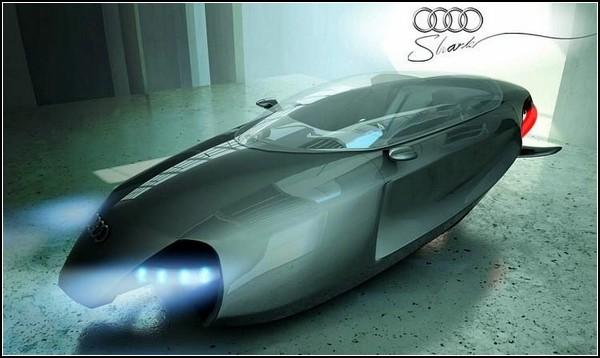 Летающий автомобиль с фотонными двигателями