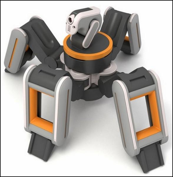 Паук-спасатель с камерой в голове