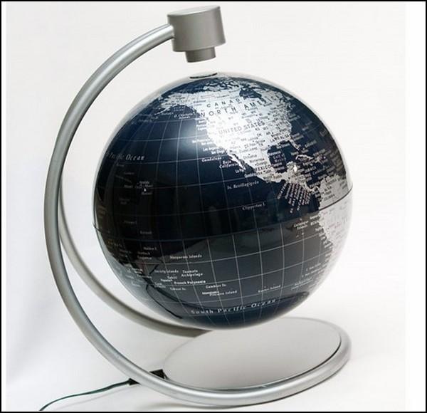 Удивительные глобусы мира: подвешенный ни на чем