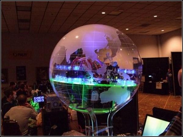 Удивительные глобусы мира: стеклянная модель