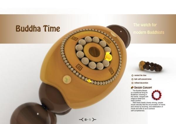Оригинальные часы для верующих Buddha Time