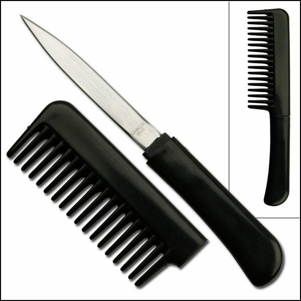 Шпионские гаджеты: расческа-нож