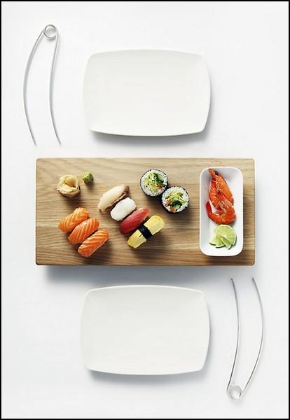 Палочки для еды в виде булавок