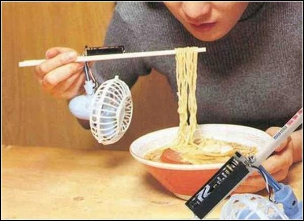 Палочки для еды с вентилятором