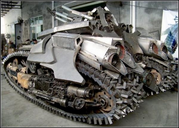 Танк-трансформер Мегатрон, созданный китайцем Steel Legend