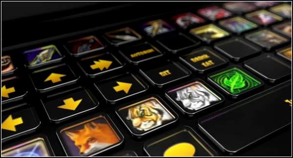 Изменяемые клавиши игрового нетбука
