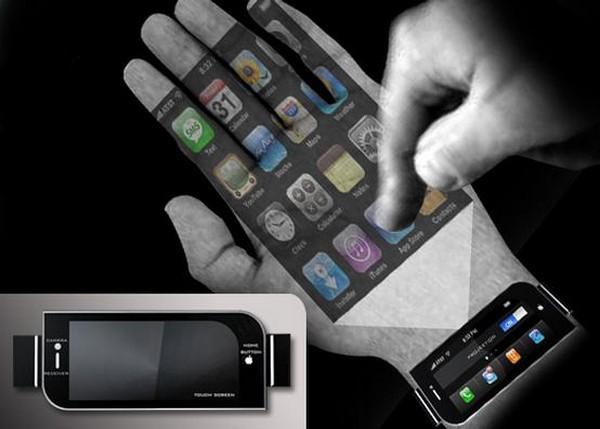 iPhone будущего с ручным проектором