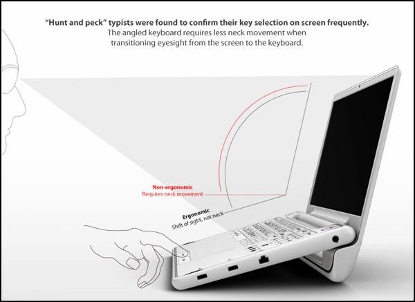 Эргономичный ноутбук для пожилых людей