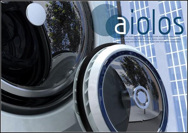 Цилиндрический автомобиль на энергии ветра