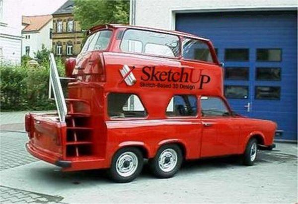 Оригинальный дизайн автомобиля: личный двухэтажный автобус