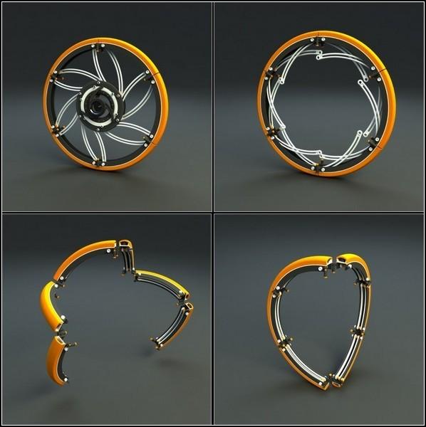 Складное колесо от складного велосипеда