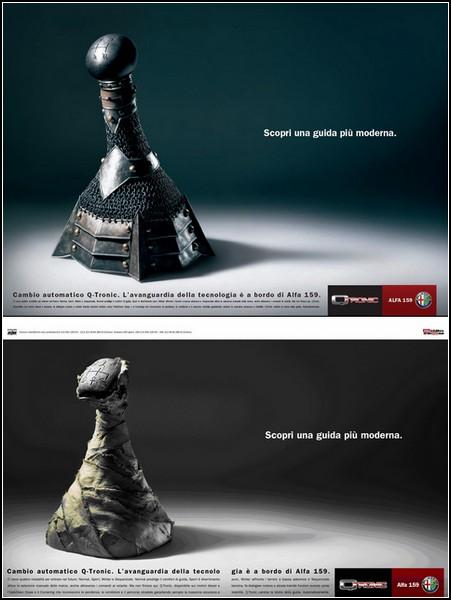 Креативная реклама машин. Alfa Romeo Q-Tronic
