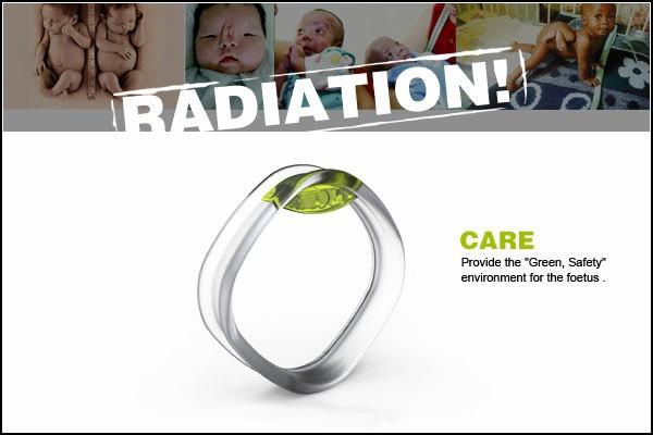 Измерение излучения с браслетом CARE