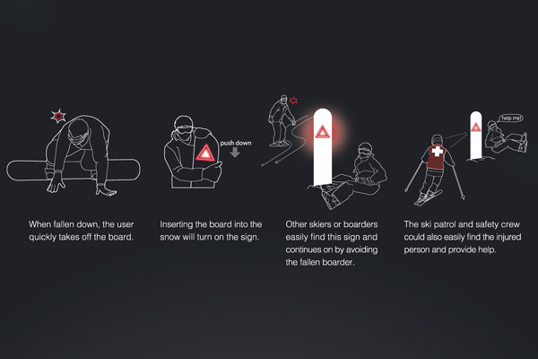 Светящийся сноуборд-концепт
