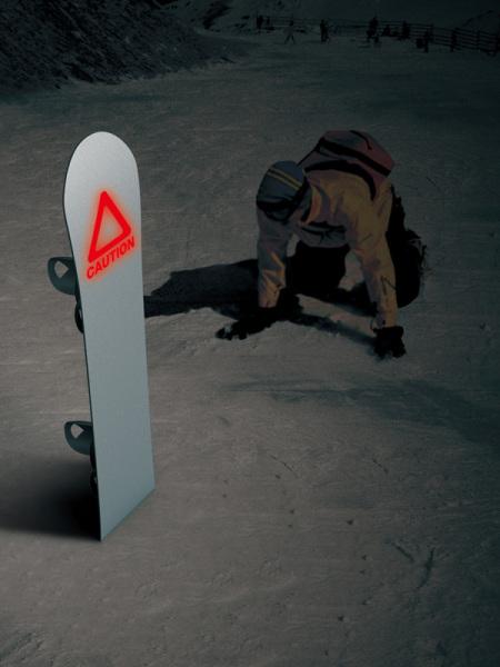 Светящийся сноуборд для безопасного катания