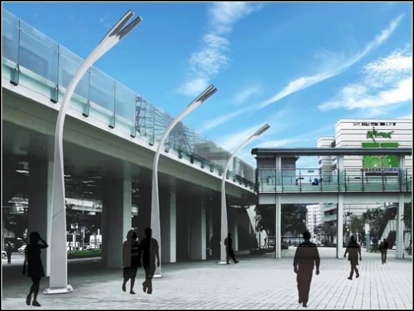 Фонарь-урна для экологически чистого города