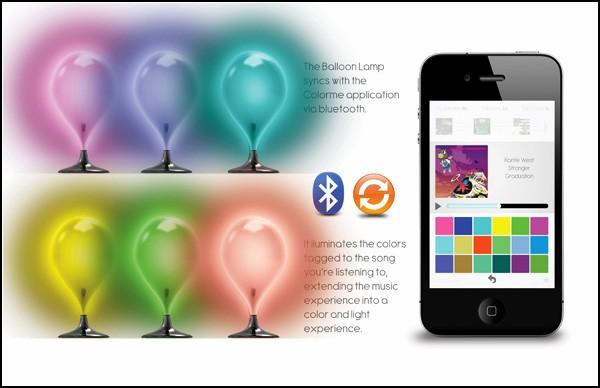 Эмоции, музыка, цвет, смартфон, лампа