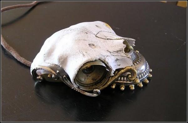 Мыши для компьютера в стиле стимпанк: бедный Йорик!