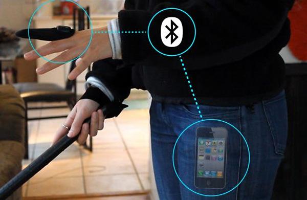 Thimble поддерживает связь со смартфоном