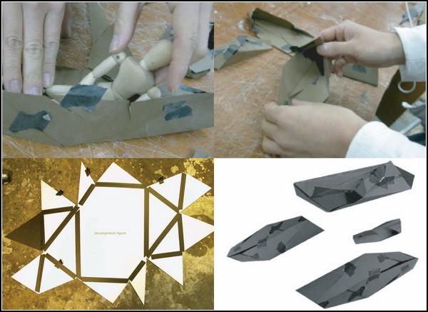Оригами-дом в процессе разработки