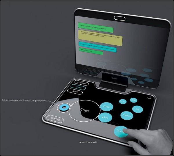 Удобный интерфейс для ноутбука: круги на клавиатуре