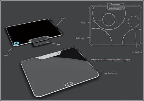 Концепт ноутбука с удобным интерфейсом