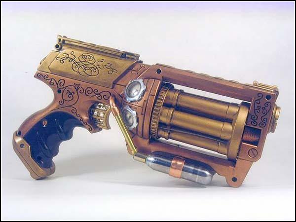 Необычные игрушки в стиле стимпанк: пистолетик