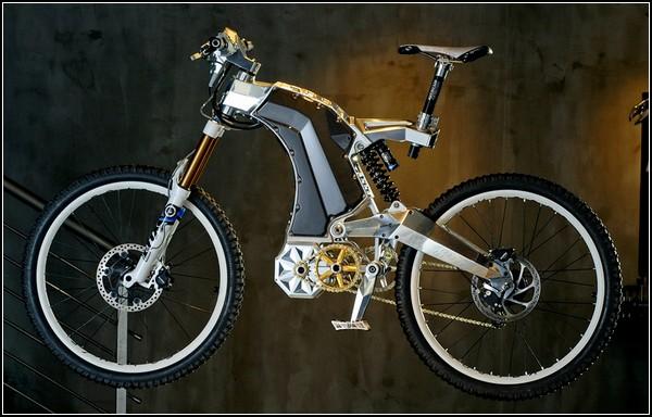 Гибридный велосипед-мотоцикл