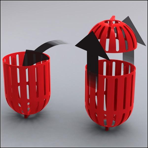 Мленькая стиральная машина будущего: барабан и корзина для белья