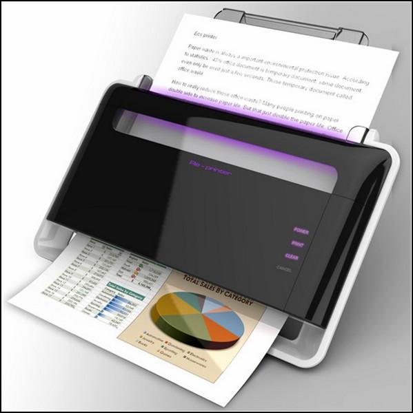 Домашний принтер, который делает бумагу многоразовой