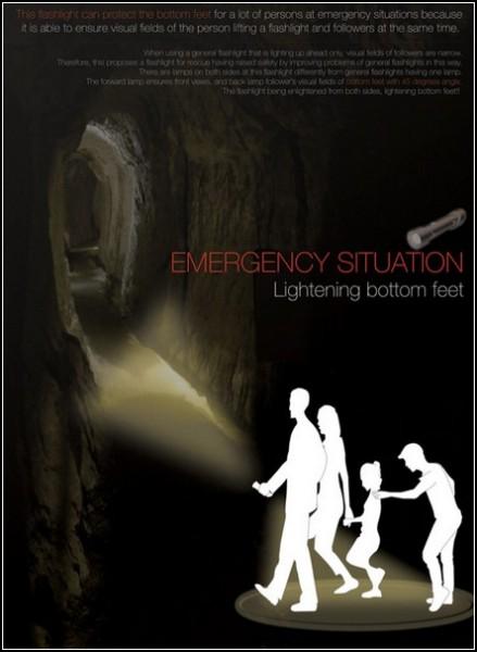 Туристический фонарь Emergency Flashlight