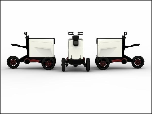 Электрический мотоцикл для службы доставки
