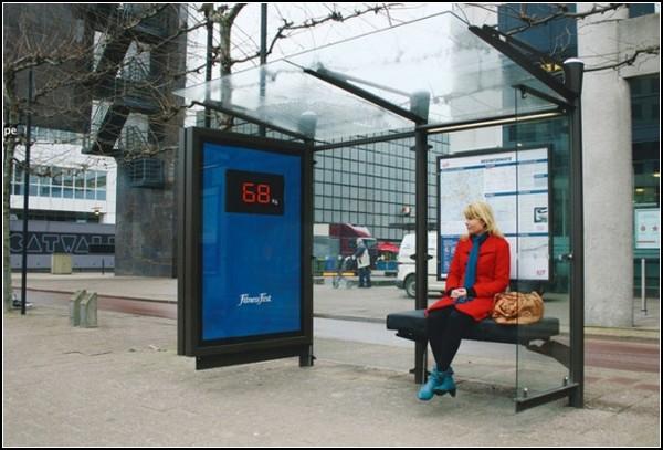Автобусная остановка с весами
