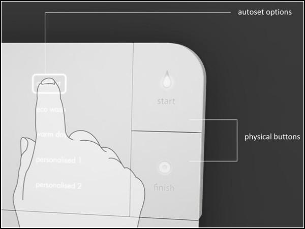 Сенсорный кран для ванной Flat-Fold Faucet