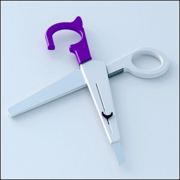 Ножницы и выдвижной нож для бумаги: два в одном