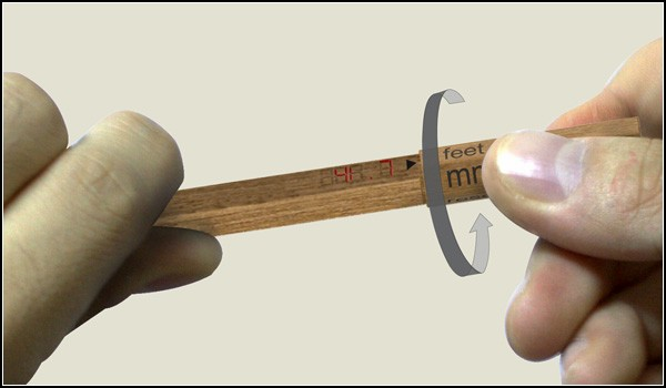 Измеритель длины в виде карандаша: Free Form Ruler