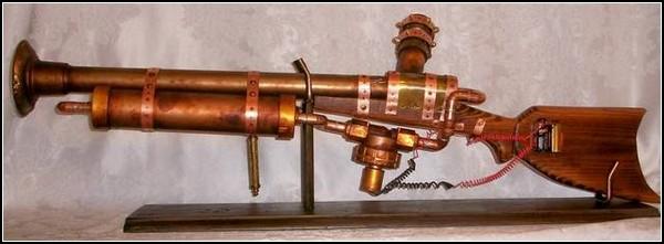 Необычные игрушки в стиле стимпанк: почти настоящее ружье