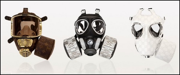 Необычные маски противогаза в картинках: газы и стразы