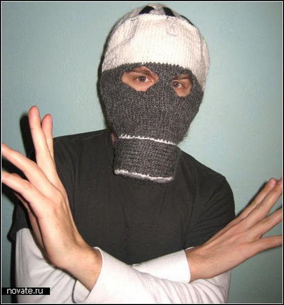 Необычные маски противогаза в картинках: шапка с носом