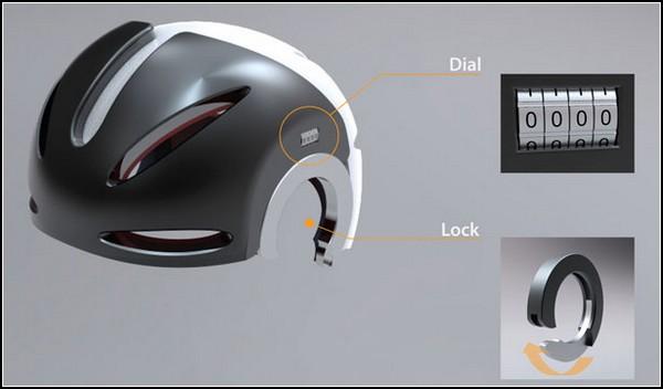 Велосипедный шлем-замок против угона: Head-Lock