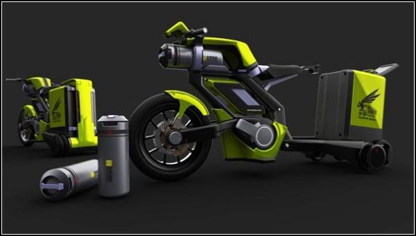 Пневматический мотоцикл-шершень